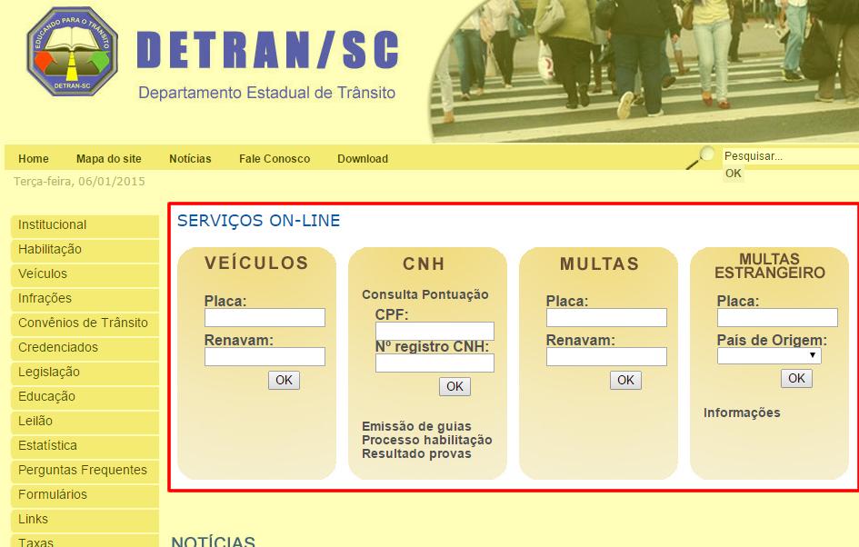 consultar-ipva-multas--licenciamento-site-detran-sc