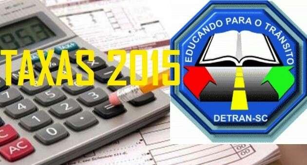 Taxas de serviços DETRAN SC 2015