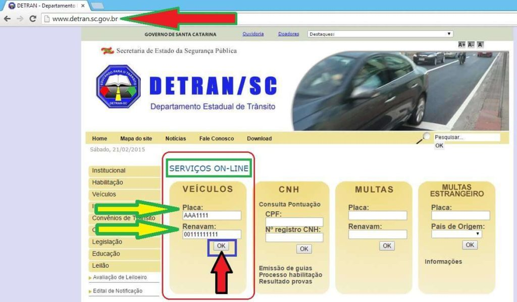 site detran sc consulta veiculo