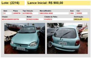 veiculo automovel carro leilao 07 detran sc 2015 chapeco sc