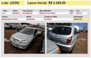 veiculo automovel carro leilao 7 detran sc 2015 chapeco sc